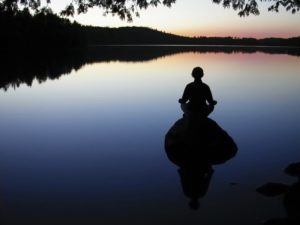 Sitting In Meditation